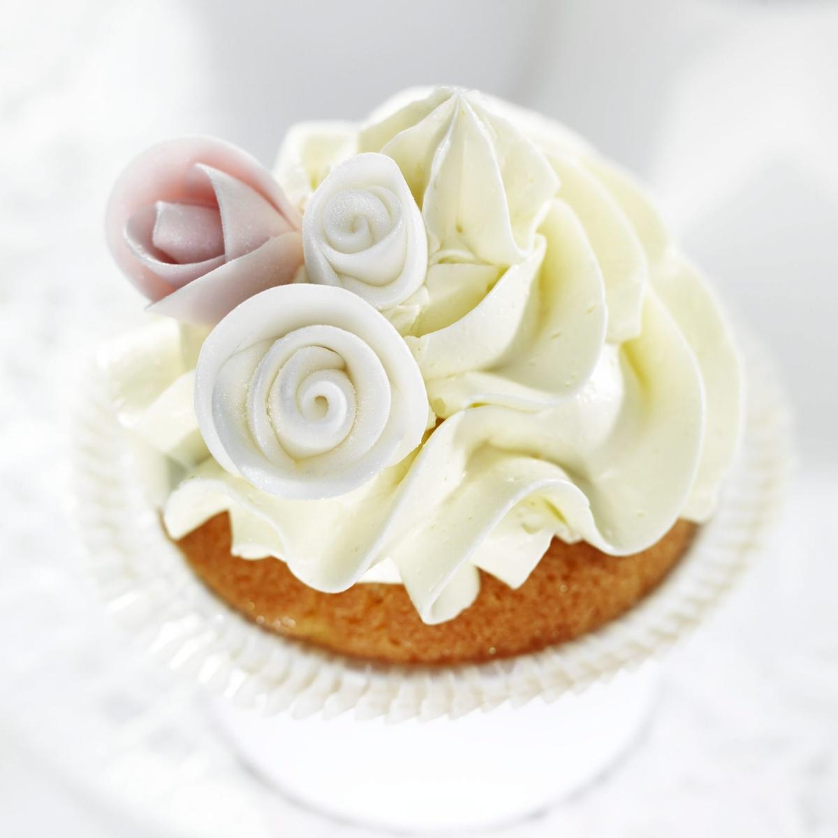 Luksuøse rosencupcakes