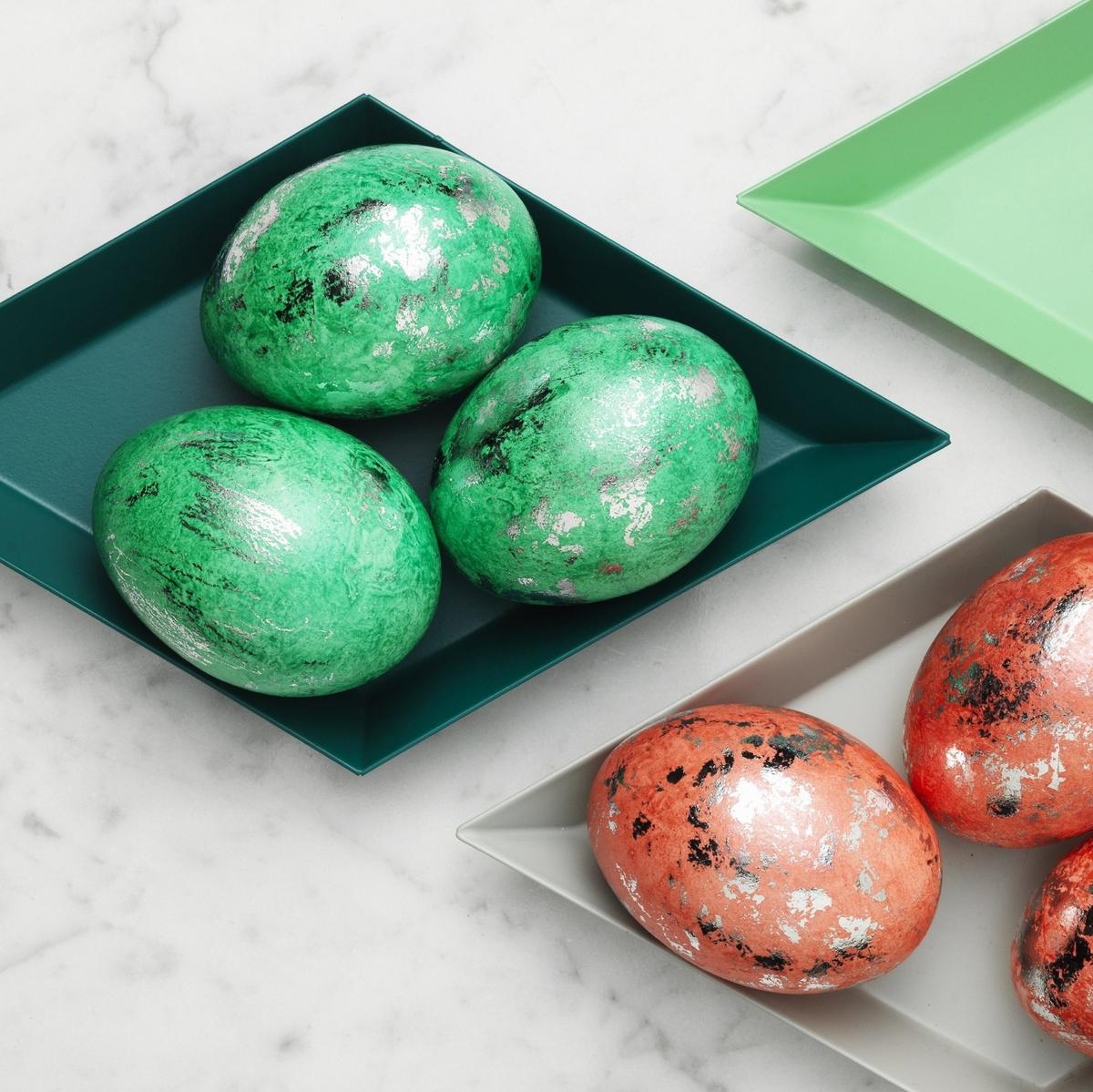 Metallskimrande ägg