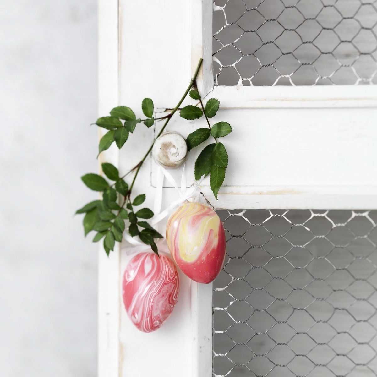 Vackra marmorerade ägg