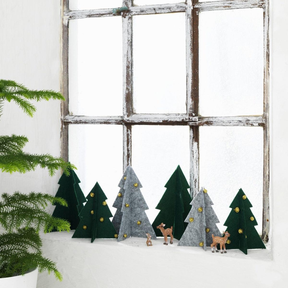 Juletræer af filt