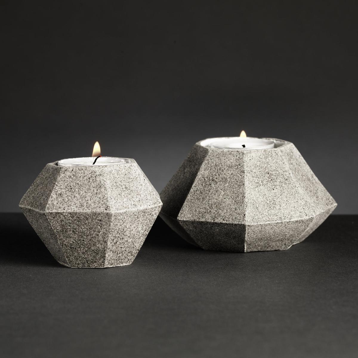 Diamantformade hållare i lera