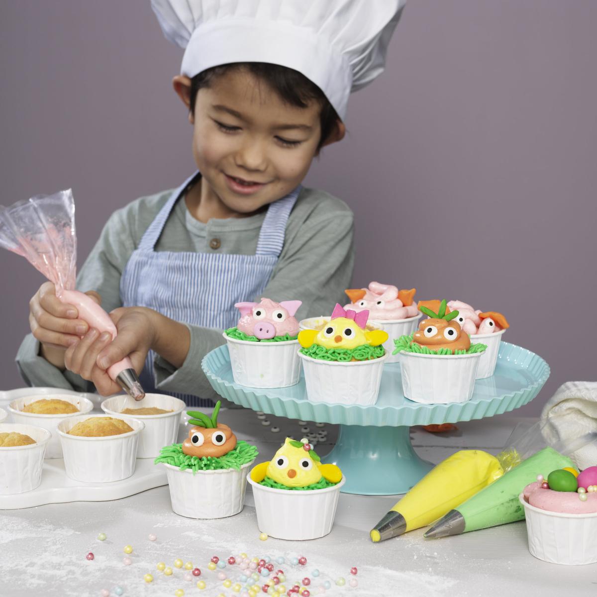 Påskiga cupcakes