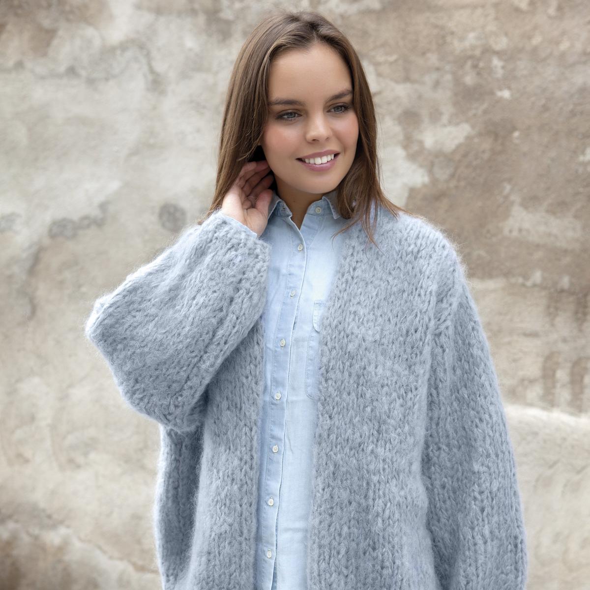 Knit an oversized cardigan