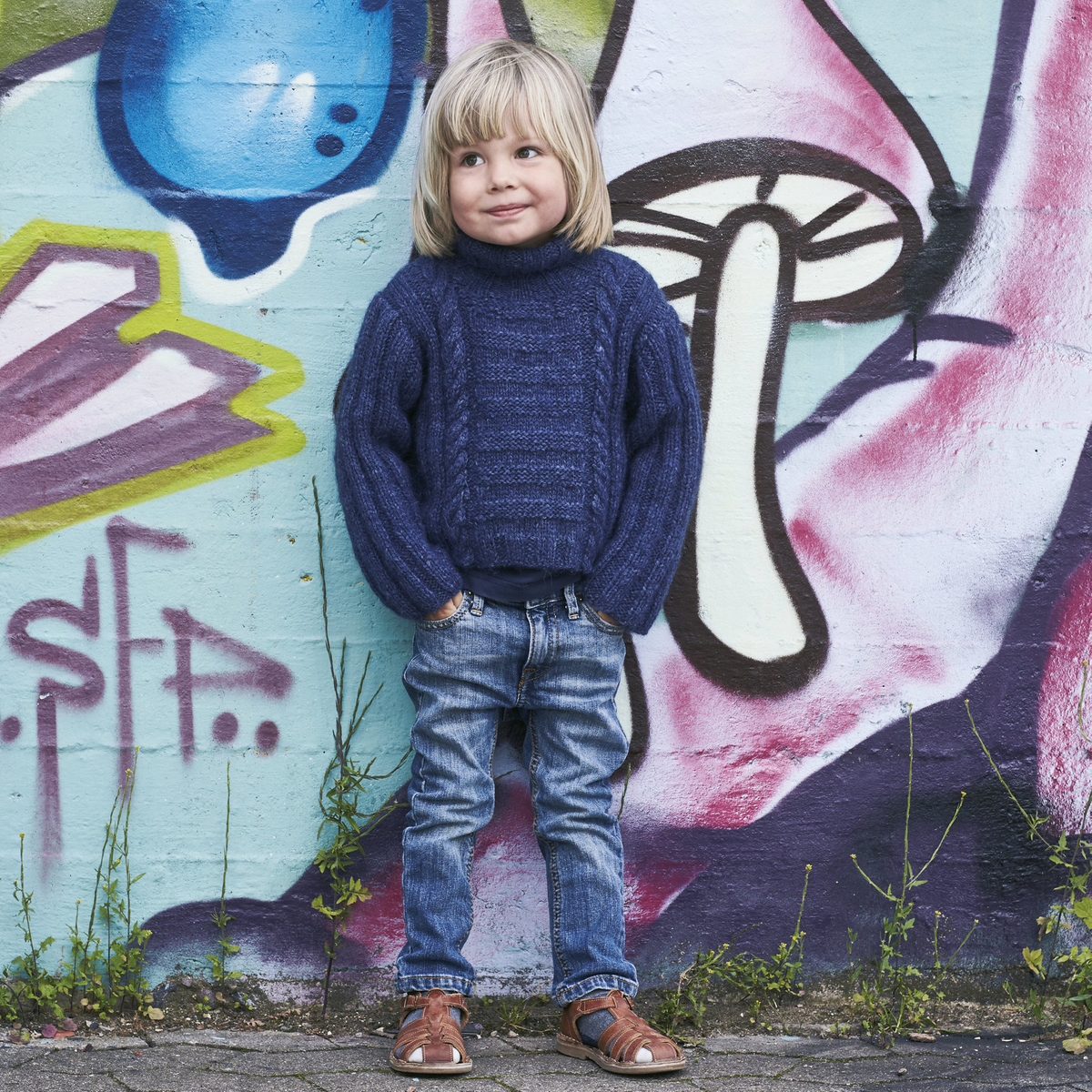 Knit a child's patterned jumper