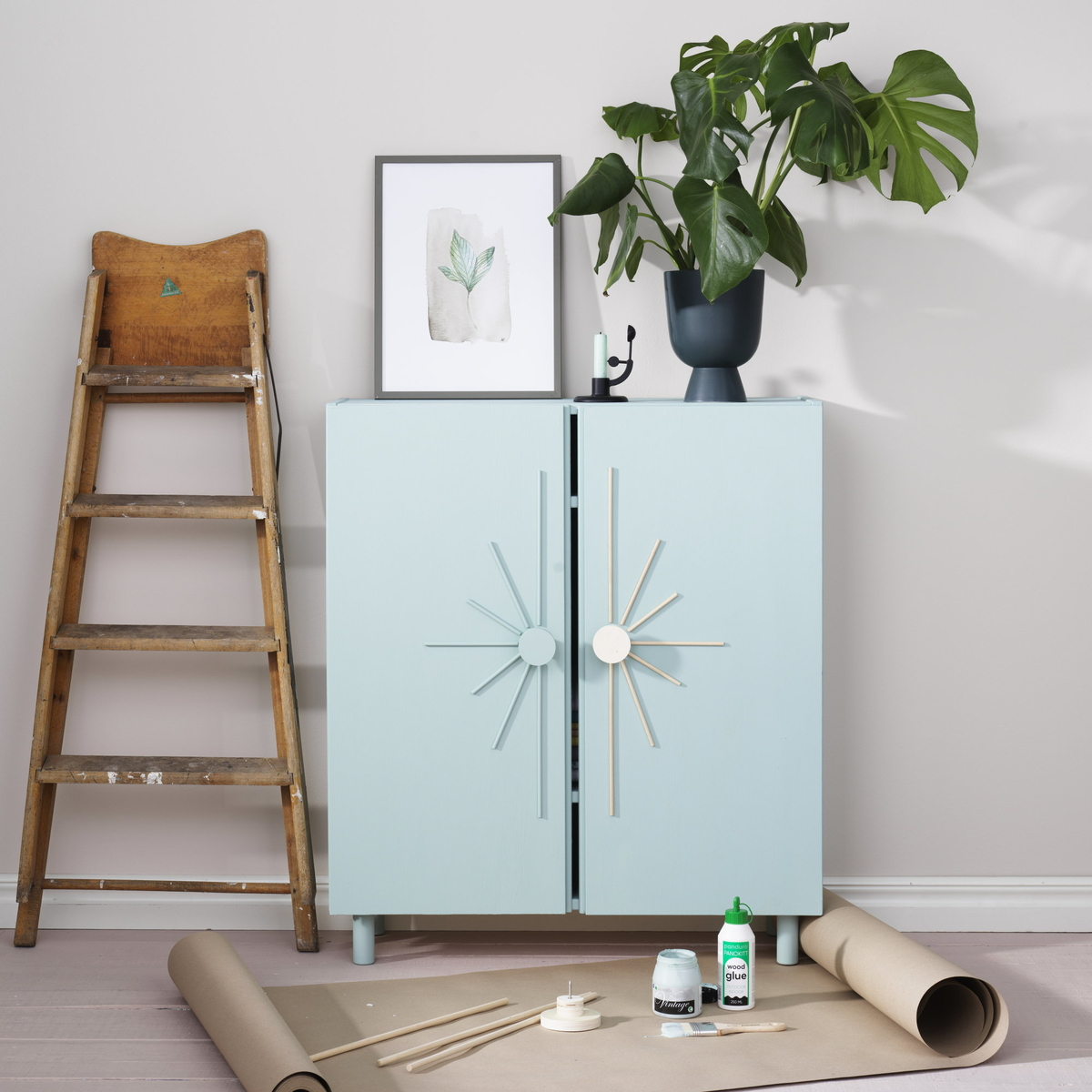 Renew furniture with paint