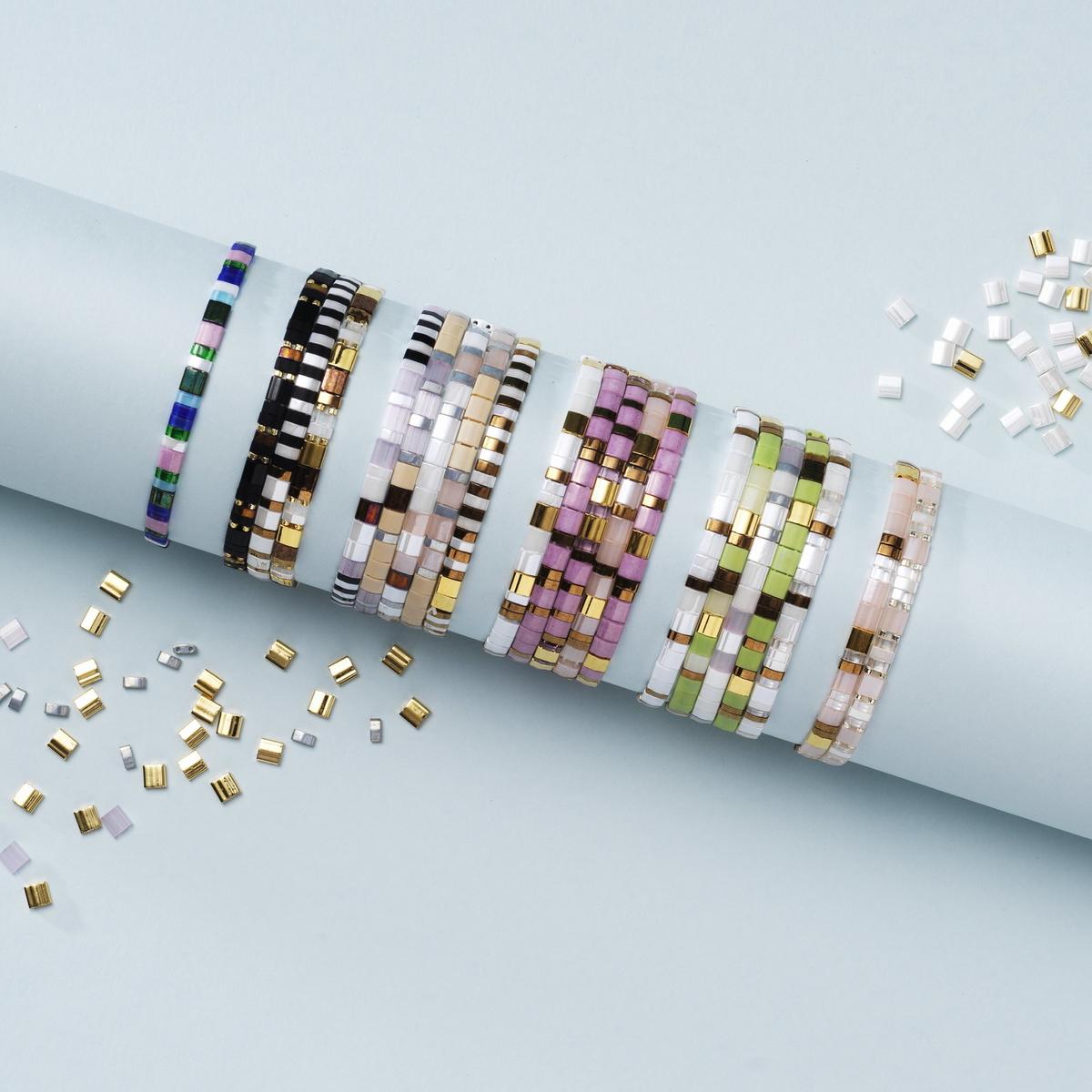Gör färgglada Miyuki-armband