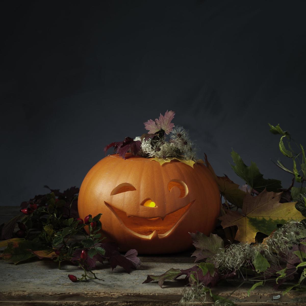Dekorera en halloweenpumpa